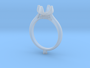 CC60-Engagement Ring Printed Wax in Frosted Extreme Detail