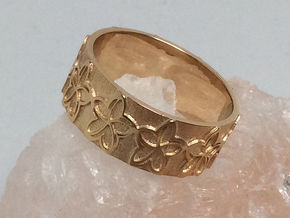 Plumeria Flower Ring Size 11 in 14k Gold Plated