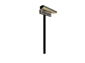 DSB K74 Stations lampe med stations skilt 1/87 in White Strong & Flexible