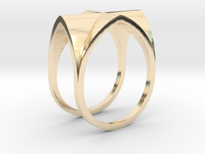 Gothic Vault Ring in 14k Gold Plated