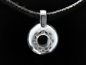 Gear in Rhodium Plated
