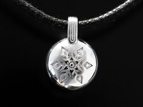 Snow in Rhodium Plated