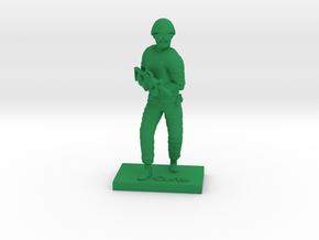 Soldier Curtis in Green Strong & Flexible Polished