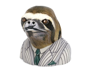 Dolla Dolla Bill Ya'll Sloth in Full Color Sandstone