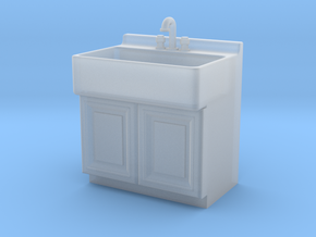 1:48 Farmhouse Sink Cabinet in Frosted Ultra Detail