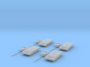 T-14 Armata platoon 1:285 separate turrets. in Frosted Ultra Detail
