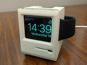Apple Watch Dock - Mac SE:30 in White Strong & Flexible Polished