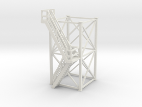 'HO Scale' - 10'x10'x20' Tower With Outside Stairs in White Strong & Flexible
