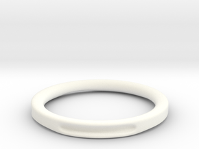 Simple hole ring in White Strong & Flexible Polished