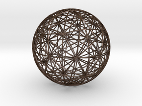 Symmetry sphere for icosahedron in Polished Bronze Steel