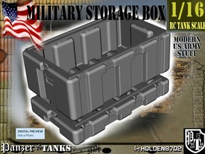 1-16 Military Storage Box in White Strong & Flexible Polished