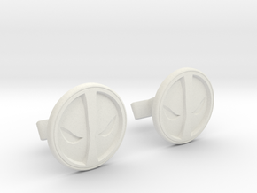 Deadpool Cufflinks in White Strong & Flexible