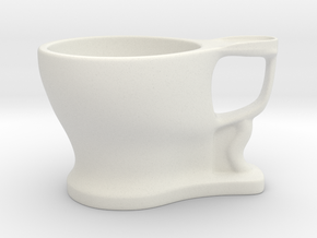 TOILET CUP 01 in White Strong & Flexible