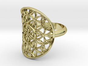 Flower of Life ring in 18k Gold Plated