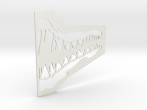 Jaw Mask Stencil (For Airsoft Mesh Mask) in White Strong & Flexible