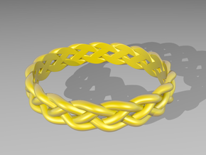 4 Strand Loose Ring in White Strong & Flexible