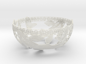 Decorative Koi Bowl in White Strong & Flexible