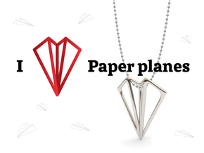 Paper Plane -necklace in Stainless Steel