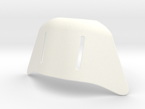 Biker scout Helmet Chin in White Strong & Flexible Polished
