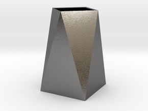 Low Poly Vase in Polished Nickel Steel