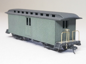 HOn30 30ft Baggage Car C in White Strong & Flexible