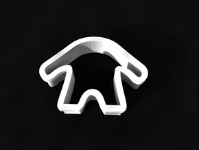 Monster cookie cutter in White Strong & Flexible