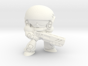 COLONIAL INFANTRY - SHOTGUN - EYES RIGHT in White Strong & Flexible Polished