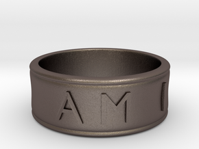 I AM    AM I Ring - Size 10 in Stainless Steel