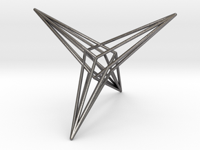 0466 Trapezohedron E (02) #001 in Polished Nickel Steel