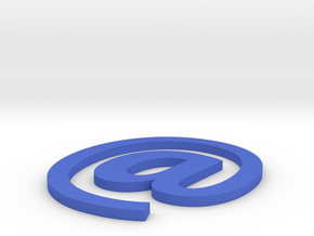 Coaster #3 - Email in Blue Strong & Flexible Polished