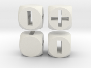 """Fudge Through"" Dice Set (4dF) in White Strong & Flexible"