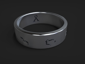 Stargate Ring size 10 (UK size T 1/2) in Polished Silver