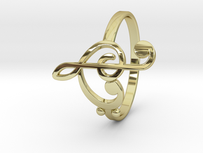 Size 7 Clefs Ring in 18k Gold Plated