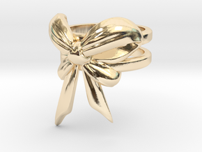 Bow Ring (S7) in 14k Gold Plated
