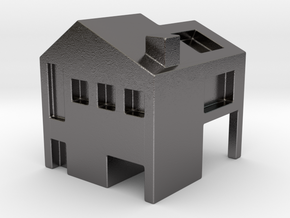 Monopoly house in Polished Nickel Steel