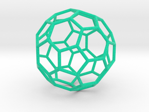 0478 Truncated Icosahedron E (6.2 �м) #002 in Full Color Sandstone