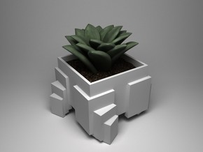 Cubic Array planter in White Strong & Flexible