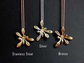 Arabidopsis Rosette pendant in Stainless Steel