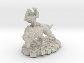 Wolf Link and Imp Midna in Sandstone