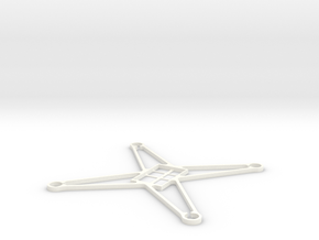 Sl85 4 Super light frame for Hubsan X4  in White Strong & Flexible Polished