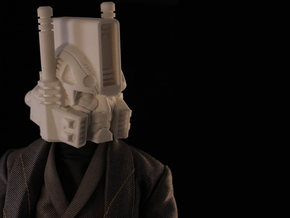 """""""Ultra Magnus"""" custom 1:6th scale head in White Strong & Flexible"""