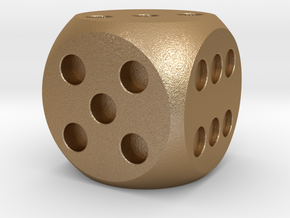 Medium Dice (Balanced) in Matte Gold Steel