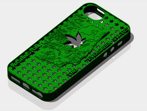 iPhone 5 Washington Marijuana Leaf 2 in Green Strong & Flexible Polished