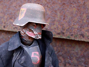 """""""Iron Skull"""" custom 1:6th scale head in White Strong & Flexible"""