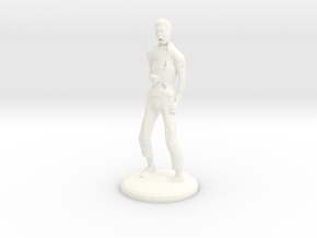 Zombie - 28mm in White Strong & Flexible Polished
