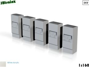 5 Ticket machines (1:160) in White Acrylic