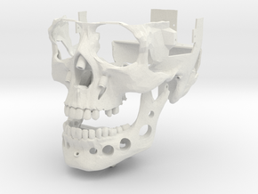 Skull Outer Shell v0.3 in White Strong & Flexible