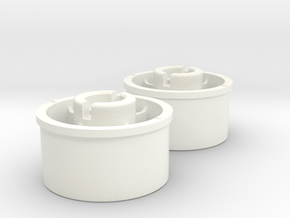 Kyosho Mini-Z Rear wheel with +2 Offset in White Strong & Flexible Polished