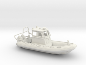 RIB Zodiac hurricane. 1:64 Scale  in White Strong & Flexible