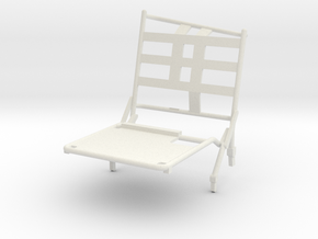 02B-LRV - Closed Right Seat in White Strong & Flexible